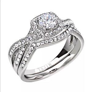 🎀 Infinity Wedding Ring Set🎀 Zirconia
